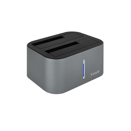 DOCK STATION DOBLE SATA 2.53.5 A TOOQ USB 3.03.1 GRIS